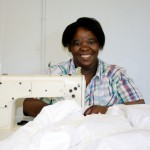 Sassa Working Faithfully at her Machine